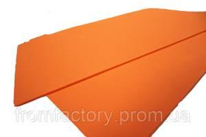 Фоамиран матовый (разные цвета) 2мм/20х30см:Морковный