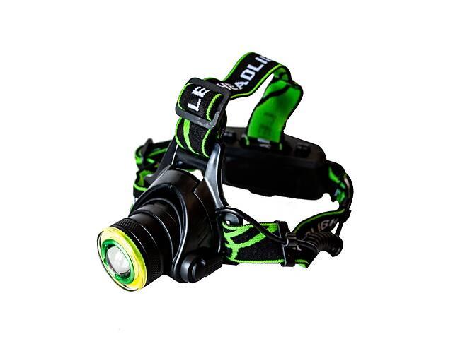 купить бу Самый яркий и мощный универсальный налобный LED фонарь на голову для рыбалки Head Lamp WD 419 аккумуляторный в Харкові