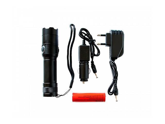 продам Тактический сверхмощный сверхъяркий светодиодный ручной аккумуляторный фонарь Hangli качественный zoom фонарик бу в Харькове