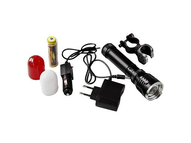 купить бу Потужний ліхтар для велосипеда з акумулятором Hangliang 294 вело ліхтарик велосипедний велофонарь в Харкові