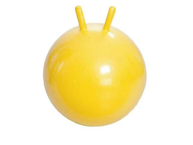 купить бу Гимнастический мяч для фитнеса с рожками Metr+ MS 0938, 38 см., желтый в Києві