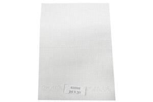 Канва вышивальная (разные цвета, 30х40, каунт 11):Белая