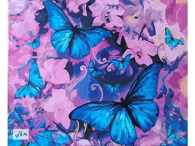 купить бу Картина Магические бабочки, акриловые краски в Киеве