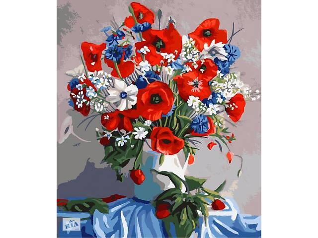 "Картина по номерам. Brushme ""Маки в вазе"" GX7806- объявление о продаже  в Одессе"