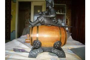 Казак на бочке казачество подарок СССР литье скульптура бронза