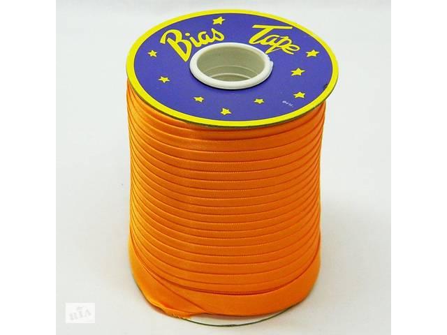 продам Косая бейка Super 3021 атласная 1.5 см х 100 м Оранжевая (Bios-3021) бу в Киеве