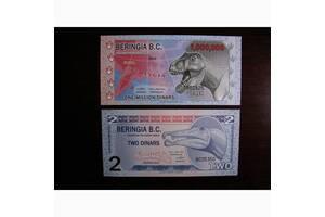 Красивые банкноты Динозавры UNC