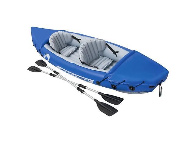 купить бу Лодка надувная двухместная Bestway 65077 BW Hydro-Force Raft Set 321х88х44см весло 2 шт до 160 кг (int_65077) в Києві