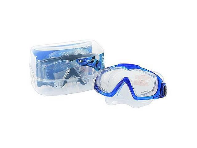купить бу Маска для подводного плаванья Intex Аква Про с регулируемым ремешком, детям от 14 лет, синяя в Києві