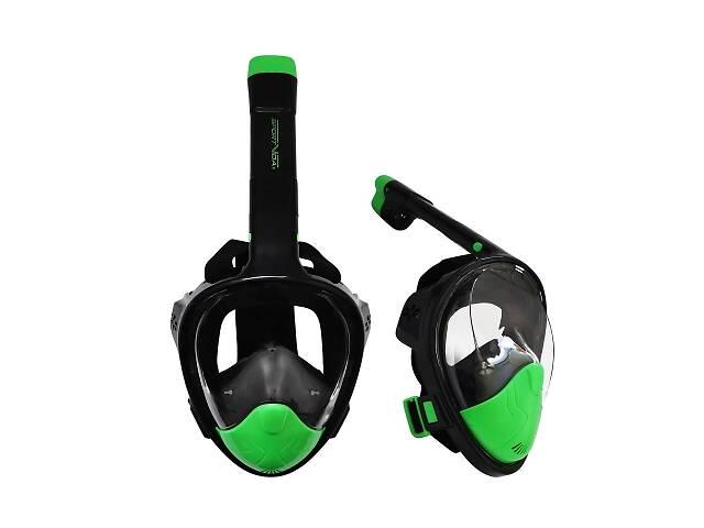 Маска для снорклинга плавания SportVida Size L/XL Black/Green SKL41-277776