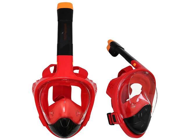 Маска для снорклинга плавания SportVida Size S/M Black/Red SKL41-277774