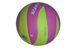 Мяч волейбольный Kata НК-12 клееный Салатово-розовый (spr_10066)