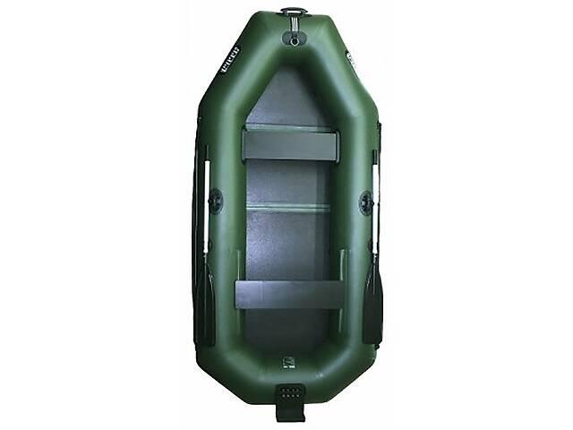 Надувная лодка Ладья ЛТ-270ЕВТБ двухместная гребная с веслами и передвижным сиденьем 2.7 м навесной транец слань-книж...