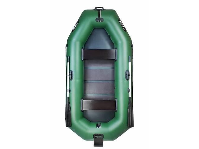Надувная лодка Ладья ЛТ-270СТБ двухместная гребная с веслами и сиденьями 2.7 м навесной транец слань-коврик (lad_ЛТ-2...