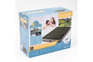 Надувний матрац INTEX 64762, 137 X 191 X 25 СМ, С ножний насос. полуторний