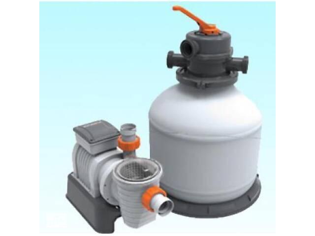купить бу Насос з пісочним фільтром для басейнів, електричний (продуктивність 7751 л/ч) Bestway 58499 в Львові