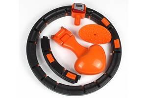 Обруч масажний для схуднення Kronos Intelligent Hula Hoop 7803 чорно-помаранчевий (gr_017633)