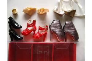обувь кукольная коллекционная, ботильоны, браслет и босоножки, на кукол 1:6