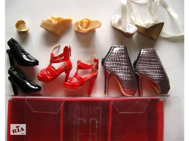 бу обувь кукольная коллекционная, ботильоны, браслет и босоножки, на кукол 1:6 в Запоріжжі