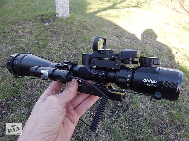 купить бу Оптичний приціл ohhunt 6-24x50 AOEG в Дніпрі (Дніпропетровськ)