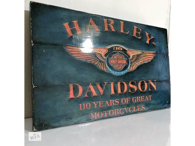 купить бу Подарок для мужчины Harley-Davidson картина лофт ключница вешалка Харли Дэвидсон ручная работа в Запорожье