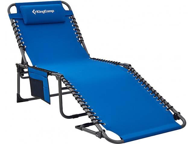 купить бу Раскладушка для кемпинга KingCamp Classic Adjustable Cot синяя в Киеве