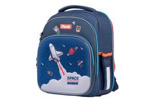 Шкільний рюкзак ортопедичний для 1-4 класу 1 Вересня Space Синій (552 242)