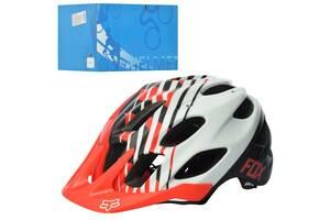 Шлем взрослый FOX AS180070-18 20 вентиляционных отверстий размер L Чёрно-красно-белый (int_AS180070-18)
