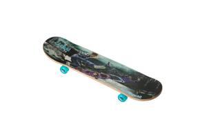 Скейт 3108YS, двухсторонний окрас,наждак, колёса PU