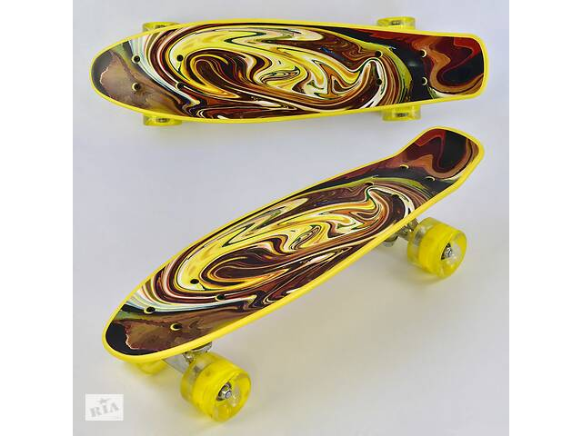 Скейт пенни борд Best Board Р 13609 дека 55 см колеса с подсветкой- объявление о продаже  в Одессе