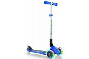 Скутер Globber Primo foldable lights синій з підсвічуванням (432-100-2)