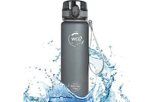 Спортивна Пляшка-Фляга для води WCG SPORT Tritan Grey, Red 500 мл шейкер фітнес