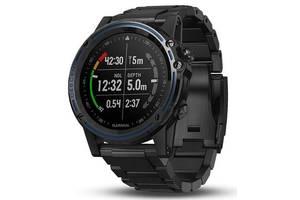 Спортивні годинник для дайвінга Garmin Descent Mk1 Carbon Gray with DLC Titanium band (010-01760-11)