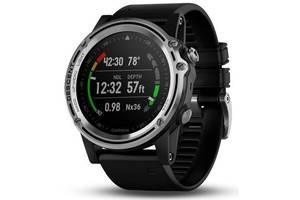 Спортивные часы для дайвинга Garmin Descent Mk1 with Black Silicone Band Saphire Silver (010-01760-10)