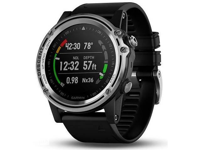 Спортивні годинник для дайвінга Garmin Descent Mk1 with Black Silicone Band Saphire Silver (010-01760-10)- объявление о продаже  в Полтаві