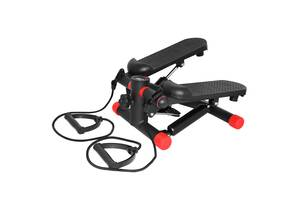 Степпер (мини-степпер) с расширителями SportVida SV-HK0282 Black / Red