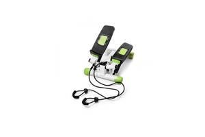 Степпер поворотный мини-степпер с эспандерами 4FIZJO White/Green SKL41-323220