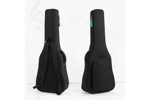 """Сумка-рюкзак под гитару акустическую полноразмерную 41"""", Черный ( код: IBH019B )"""