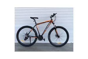 СУПЕР-ЦЕНА! Aлюминиевый горный велосипед TopRider 901 27,5 Shimano ЧЕРНО-ОРАНЖЕВЫЙ