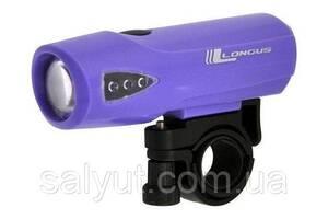 Свет переднее Longus1W LED 3 ф-ции (Фиолетовый)