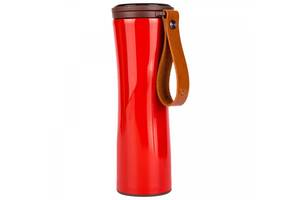 Термос Xiaomi Kiss Kiss Fish Moka Smart Coffee Tumbler (430 ml) Red (1xCR2032)