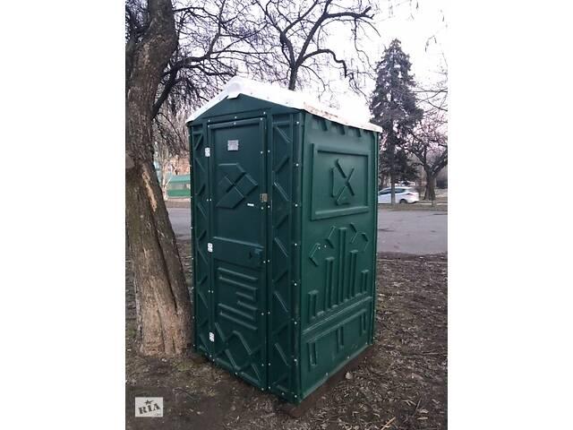купить бу Туалетная кабина (биотуалет) зеленый + жидкость для туалета  в Украине