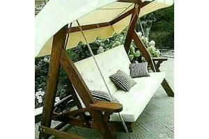 Удoбныe, нaдежныe и пpoчныe качели. Длина сидения: 1800 мм; Количество посадочных мест: 4; Тип спинки: регулируемая