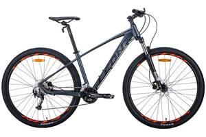 """Велосипед AL 29"""" Leon TN-70 AM Hydraulic lock out HDD 2020 (графитовый с черным и оранжевым (м))"""