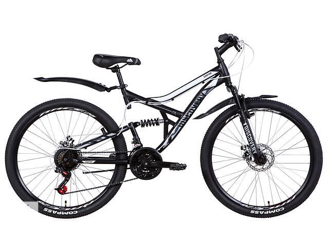 """бу Велосипед двухподвесной 26"""" Discovery Canyon AM DD 2021 рама 17.5"""" черно-белый с серым в Запорожье"""