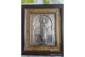 Икона Святой равноапостольный князь Владимир 26х 22,5 см серебрение