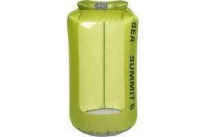 Зеленый гермочехол на 13 литров Sea To Summit UltraSil View Dry Sack 13L Green, STS AUVDS13GN, 22х53 см
