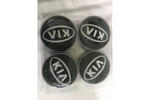 KIA 55мм V1 черные силикон (4 шт) для Колпачки в титановые диски