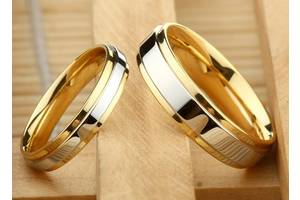 Кольцо обручальное с серебряной вставкой