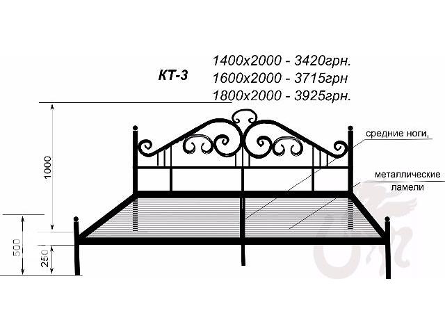 продам Кованые кровати от производителя бу в Харькове